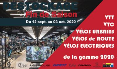Destockage vélo de fin de saison chez Mondovélo Chambéry et annecy