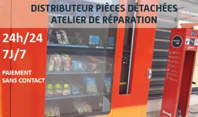 distributeur 24h sur 24 de pièces detachées vélo chez Mondovelo Chambery
