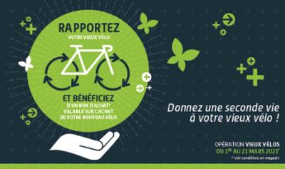 rapportez votre vieux vélo chez Mondovélo Chambéry mondovelo epagny ou mondovelo seynod et bénéficiez d'un bon d'achat