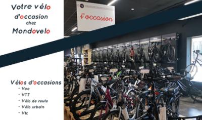découvrer un large choix de vélos d'occasion chez Mondovelo Chambéry, annecy et Grenoble