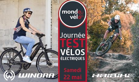 Journée de test VTTAE et vélos électriques urbains et loisirs Haibike et Winora chez Mondovelo Chambéry