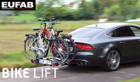 Porte vélo motorisé pour vélo électrique Eufab Bike lift Mondovelo chambery annecy