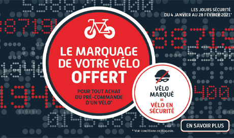 Opération marquage vélo offert chez Mondovélo Chambéry Epagny et Seynod