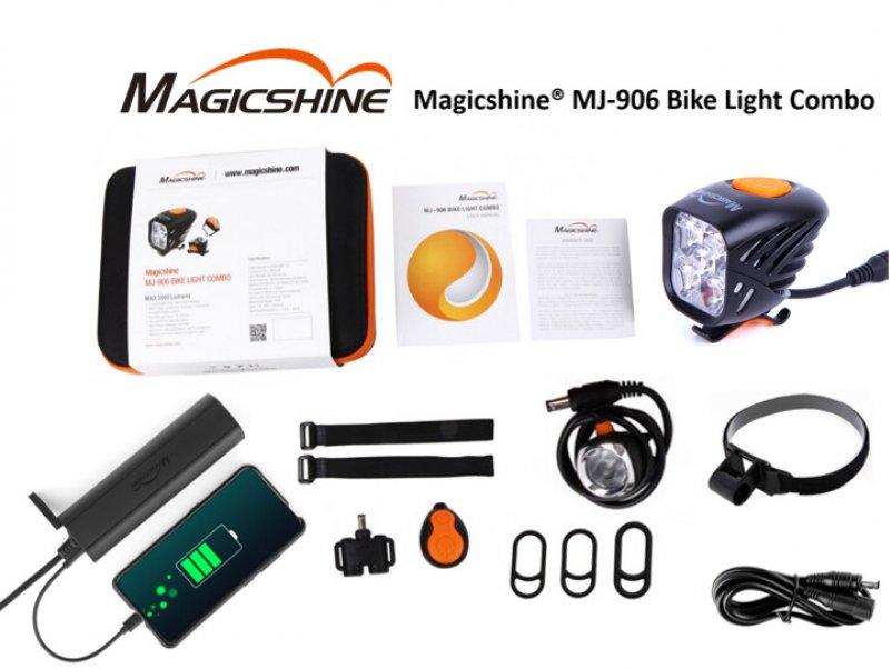 Eclairage avant et arrière sur batterie Magicshine MJ 906 chez Mondovelo Chambery, Annecy et Grenoble